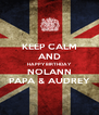 KEEP CALM AND HAPPY BIRTHDAY NOLANN PAPA & AUDREY - Personalised Poster A4 size