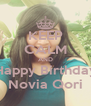 KEEP CALM AND Happy Birthday Novia Qori - Personalised Poster A4 size