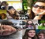 KEEP CALM AND HAPPY BIRTHDAY OLYA - Personalised Poster A4 size