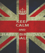 KEEP CALM AND HAPPY BIRTHDAY SALI - Personalised Poster A4 size