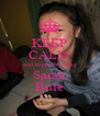 KEEP CALM and happy birthday Sarah Bule - Personalised Poster A4 size