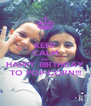 KEEP CALM AND HAPPY BIRTHDAY TO POP-CORN!!! - Personalised Poster A4 size