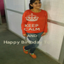 KEEP CALM AND Happy Birthday To Sis  - Personalised Poster A4 size