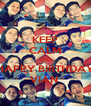 KEEP CALM AND HAPPY BIRTHDAY VIAN  - Personalised Poster A4 size