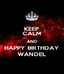 KEEP CALM AND HAPPY BIRTHDAY WANDEL - Personalised Poster A4 size