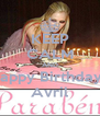 KEEP CALM AND Happy Birthdayl  Avril - Personalised Poster A4 size