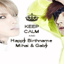 KEEP CALM AND Happy Birthname Mihai & Gaby - Personalised Poster A4 size