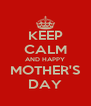 KEEP CALM AND HAPPY MOTHER'S DAY - Personalised Poster A4 size