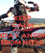 KEEP CALM AND HAPPY NMDAY ANTONIS FROM NOTA - Personalised Poster A4 size