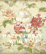 KEEP CALM AND HAPPY PARTY WITH YOU - Personalised Poster A4 size