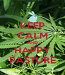 KEEP CALM AND HAPPY PASTURE - Personalised Poster A4 size