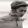 KEEP CALM AND HAPPY YOON'S DAY 040789 - 040714 - Personalised Poster A4 size