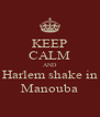 KEEP CALM AND Harlem shake in Manouba - Personalised Poster A4 size