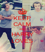 KEEP CALM AND HARRY LOVES - Personalised Poster A4 size
