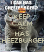 KEEP CALM AND HAS CHEEZBURGER! - Personalised Poster A4 size