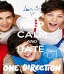 KEEP CALM AND HATE   - Personalised Poster A4 size