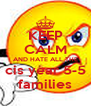 KEEP  CALM AND HATE ALL THE cis year 5-5 families - Personalised Poster A4 size
