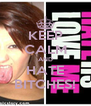 KEEP CALM AND HATE BITCHES! - Personalised Poster A4 size