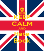 KEEP CALM AND Hate Book - Personalised Poster A4 size