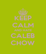 KEEP CALM AND HATE CALEB CHOW - Personalised Poster A4 size