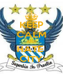 KEEP CALM AND HATE  CITY - Personalised Poster A4 size
