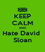 KEEP CALM AND Hate David  Sloan - Personalised Poster A4 size