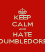 KEEP CALM AND HATE DUMBLEDORE - Personalised Poster A4 size