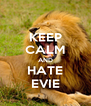 KEEP CALM AND HATE EVIE - Personalised Poster A4 size