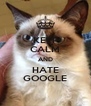 KEEP CALM AND HATE GOOGLE - Personalised Poster A4 size