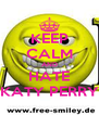 KEEP CALM AND HATE KATY PERRY - Personalised Poster A4 size