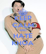 KEEP CALM AND HATE KHOA - Personalised Poster A4 size