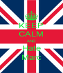 KEEP CALM AND Hate Marc - Personalised Poster A4 size
