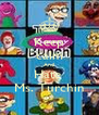 Keep calm And Hate  Ms. Turchin - Personalised Poster A4 size