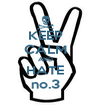 KEEP CALM AND HATE no.3 - Personalised Poster A4 size