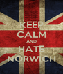 KEEP CALM AND HATE NORWICH - Personalised Poster A4 size