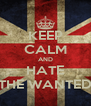 KEEP CALM AND HATE THE WANTED - Personalised Poster A4 size