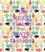 KEEP CALM AND HATE THINGS  - Personalised Poster A4 size