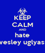 KEEP CALM AND hate wesley uglyass - Personalised Poster A4 size