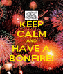 KEEP CALM AND HAVE A BONFIRE! - Personalised Poster A4 size