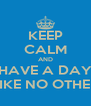 KEEP CALM AND HAVE A DAY LIKE NO OTHER - Personalised Poster A4 size