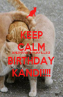 KEEP CALM AND HAVE A FURFILLED BIRTHDAY KANDI!!!! - Personalised Poster A4 size