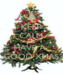 KEEP CALM AND HAVE A  GOOD XMAS - Personalised Poster A4 size