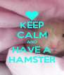 KEEP CALM AND HAVE A HAMSTER - Personalised Poster A4 size