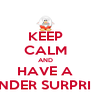 KEEP CALM AND HAVE A KINDER SURPRISE - Personalised Poster A4 size
