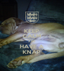 KEEP CALM AND HAVE A KNAP - Personalised Poster A4 size