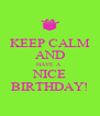 KEEP CALM AND HAVE A  NICE BIRTHDAY! - Personalised Poster A4 size