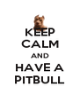 KEEP CALM AND HAVE A PITBULL - Personalised Poster A4 size