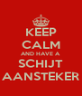 KEEP CALM AND HAVE A SCHIJT AANSTEKER - Personalised Poster A4 size