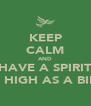 KEEP CALM AND HAVE A SPIRIT AS HIGH AS A BIRD - Personalised Poster A4 size