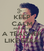 KEEP CALM AND HAVE A TEACHER LIKE EZRA - Personalised Poster A4 size